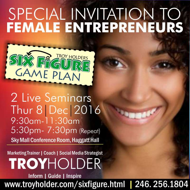 Troy Holder Facilitates workshops and seminars for six figure seekers
